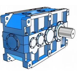 Индустриальные цилиндрические четырехступенчатые редукторы с параллельными валами Rossi серии H
