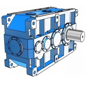 Индустриальные цилиндрические двухступенчатые редукторы с параллельными валами Rossi серии H