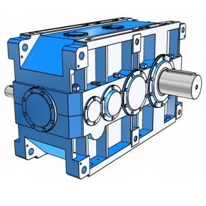Индустриальные цилиндрические трехступенчатые редукторы с параллельными валами Rossi серии H
