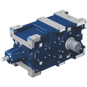 Коническо-цилиндрические трехступенчатые редукторы STM серии RXO 800