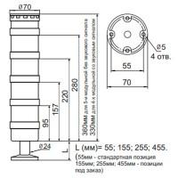 Светодиодная сигнальная колонна INNOCONT серии TL70